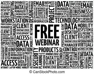 Free Webinar word cloud