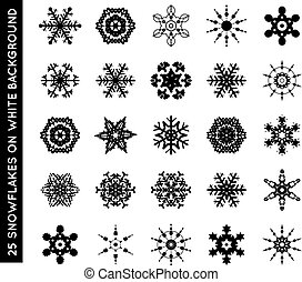 Collection of beautiful vector snowflakes