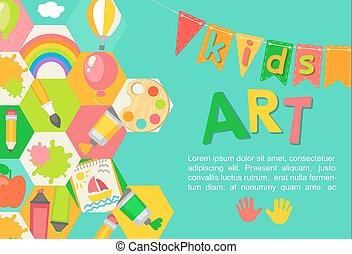 Themed Kids art poster.