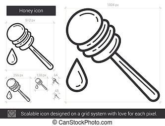 Honey line icon.