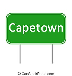 Capetown road sign. - Capetown road sign isolated on white...