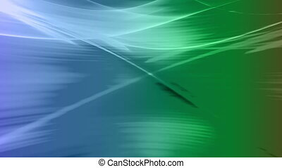 Flowing Blue Green looping backdrop smooth lines - Animated...
