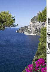 Capri view - View of Capri island, Italy