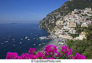 Summer in Positano - Stunning Amalfi coast. Positano with...