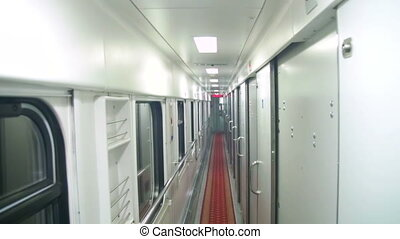 Wagon Train Compartment - Wagon train compartment. Sleeping...