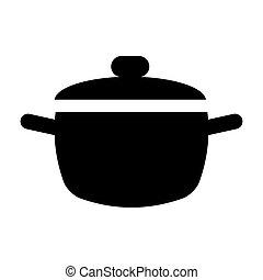 vektoren illustration von koch kochen piktogramm cook cooking pictogram csp43549977. Black Bedroom Furniture Sets. Home Design Ideas