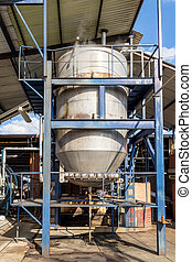 Autoclave for agave - Vertical photo in color of an...