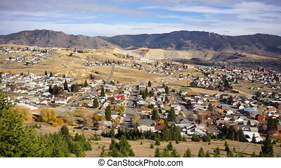 High Angle Overlook Walkerville Montana Downtown USA United...
