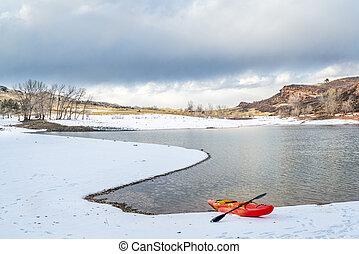 winter kayaking in Colorado