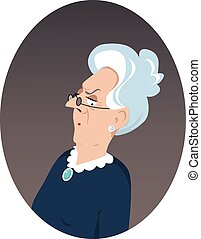 Victorian lady portrait - Portrait of a grumpy elderly woman...