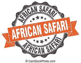 african safari stamp. sign. seal