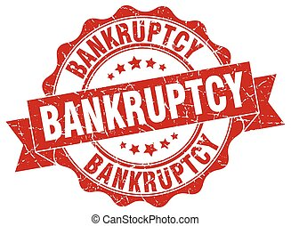 bankruptcy stamp. sign. seal
