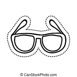 eye glasses style icon vector illustration design
