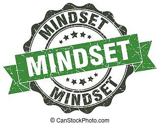 mindset stamp. sign. seal