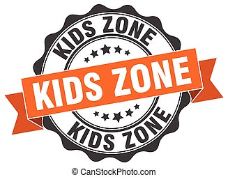 kids zone stamp. sign. seal