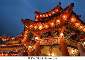 chino,  gong,  Kuala,  lumpur, malasia,  hou,  thean, templo