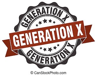 generation x stamp. sign. seal