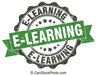 e-learning stamp. sign. seal