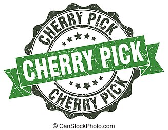 cherry pick stamp. sign. seal