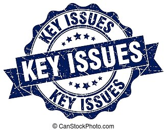 key issues stamp. sign. seal