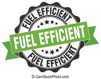 fuel efficient stamp. sign. seal