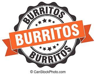 burritos stamp. sign. seal