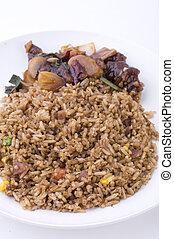fried rice with mantis prawn