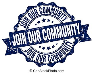 join our community stamp. sign. seal