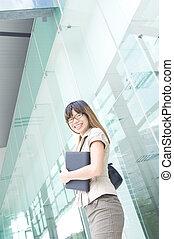 asian business women smiling