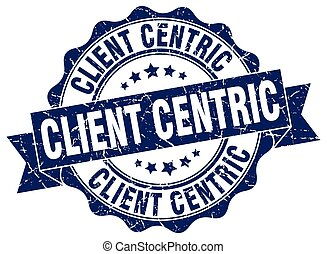 client centric stamp. sign. seal