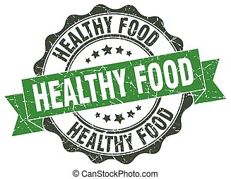 healthy food stamp. sign. seal