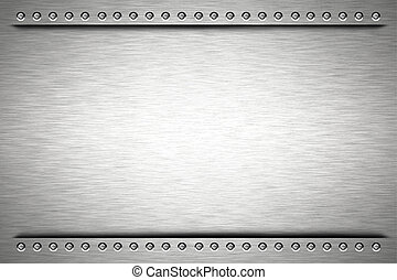 Steel - Rivets in brushed steel background