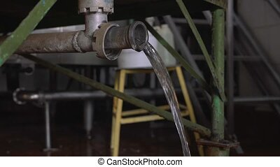 Equipment at dairy processing plant - Working equipment at...