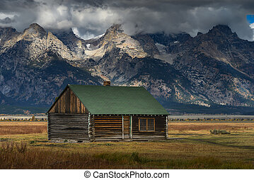 Mormon Row Historic - Abandoned hut of Mormon Row Historic,...