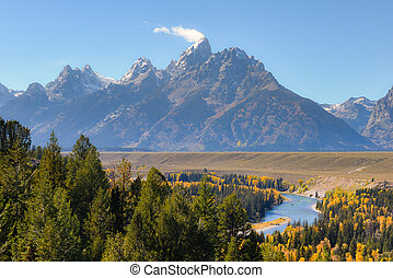 Jackson View Overlook, Grand Teton National Park - Snake...