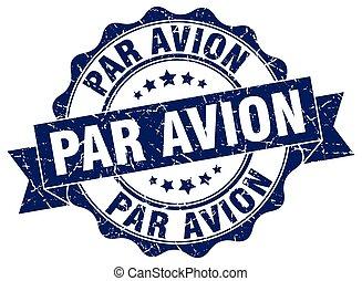 par avion stamp. sign. seal