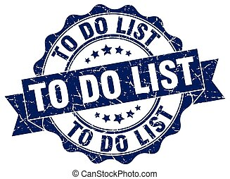 to do list stamp. sign. seal