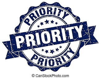 priority stamp. sign. seal