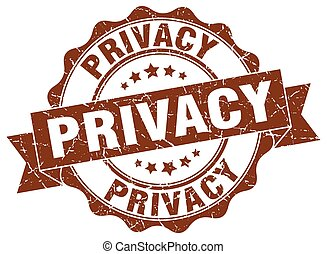 privacy stamp. sign. seal