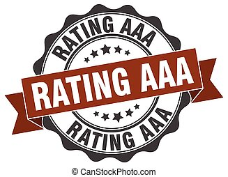 rating aaa stamp. sign. seal