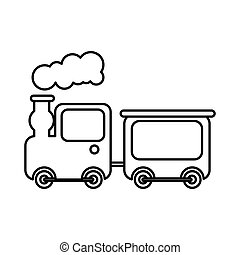 cute train toy icon vector illustration design