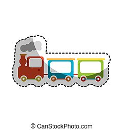 cute train toy icon