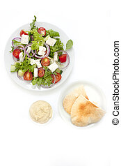 Greek salad shot from above - greek salad shot in natural...