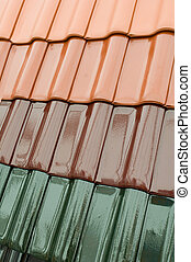 Roof tiles - Colour samples of roof tiles