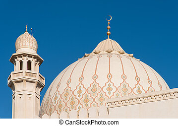Sultan Qaboos Grand Mosque, Salalah, Oman - The dome and one...