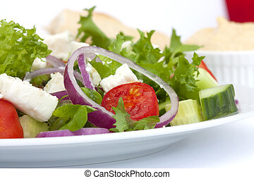greek salad close up - greek salad shot in natural daylight...