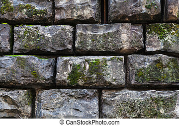black stone blocks in wall of Palazzo Pitti - travel to...