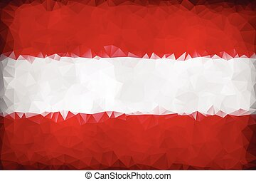 Austria polygonal triangle flag background