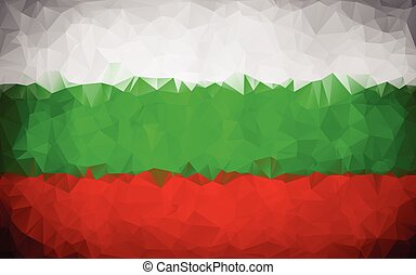 Bulgaria polygon flag texture background