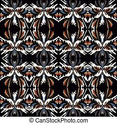 vintage tribal seamless pattern